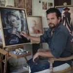 Sean Diediker in his studio in Bali, Indonesia.