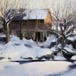 Mark Boedges, Waitsfield Barn, oil, 24 x 30.