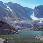 Michael Baum, Alpine Lake, oil, 24 x 30.