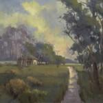 Mary Garrish, River Road, oil, 16 x 20.