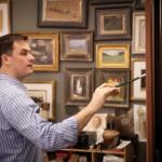 Ryan S. Brown in his studio in Springville, UT