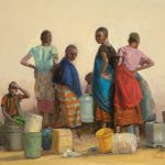 Patti Andre, Water Carriers, oil, 16 x 20.