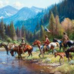 Martin Grelle, New Wealth for the Blackfeet, oil, 44 x 52. Estimate: $150,000-$250,000.