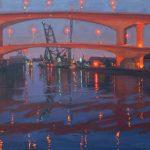 Jennifer Diehl, Guiding Lights, oil, 20 x 24.