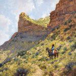 C. Michael Dudash, High Mesa Solitude, oil, 30 x 30.