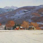G. Russell Case, High Valley Winter, oil, 24 x 36.