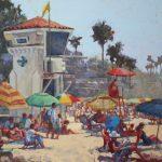Rita Pacheco, Main Beach Summer, oil, 16 x 20.