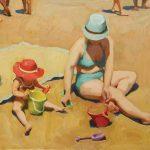 Jennifer Diehl, Play Date, oil, 16 x 20.