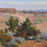 G. Russell Case, Road to the Corrals, oil, 16 x 20.