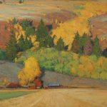 G. Russell Case, September Ranch, oil, 30 x 40.