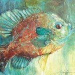 V... Vaughan, Sunfish, oil, 36 x 36.