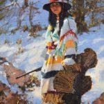 C. Michael Dudash, Turkey Hunter, oil, 32 x 24.