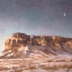 Todd A. Williams, Hole in the Rock, Banner County, oil, 12 x 16.