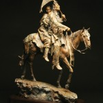 John Coleman, Honeymoon at Crow Fair, bronze, 27 x 19 x 9.