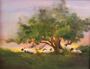 Cathy McAnally Lubke, Resting, oil, 11 x 14.