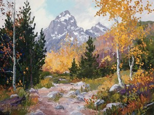 Carol Swinney, A Grand September, oil, 9 x 12.