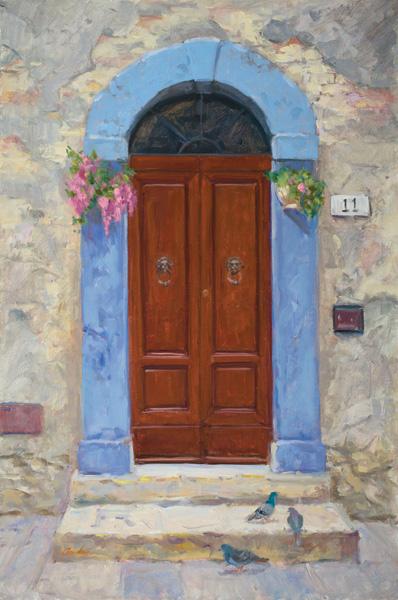 Patti Andre, #11 Orvieto, oil, 24 x 16.