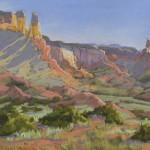 Patricia Ford, Piedra Lumbre Morning, pastel, 11 x 14.