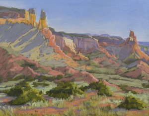Patricia Ford, Piedra Lumbre Morning, pastel, 11 x 14.