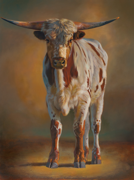 Teresa Elliott, Gunsmoke, oil, 48 x 36.