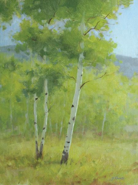 Jessica Garrett, Summer, oil, 12 x 9.
