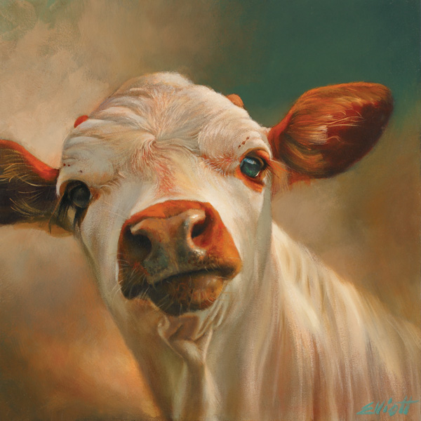 Teresa Elliott, Lucky, oil, 12 x 12.