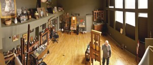 William Whitaker's studio in Provo, UT.
