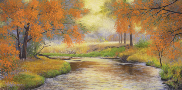 Nancy Wylie, Arise & Shine, pastel, 12 x 24.
