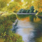 Nancy Wylie, Morning Has Broken, pastel, 24 x 20.