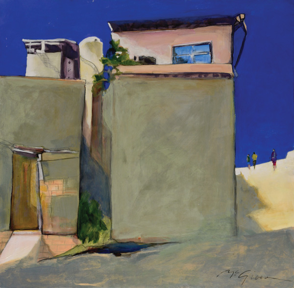 Peggy McGivern, Oceanside Penthouse, mixed media, 24 x 24.