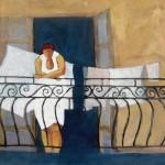 Peggy McGivern, White on White, mixed media, 24 x 24.