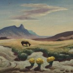 Thomas Hart Benton, Utah Desert With Horse, oil, 6 x 8.