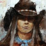 Andre Kohn, Stranger, oil, 14 x 18.