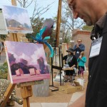 Artists create work during previous Passport to the Arts events.