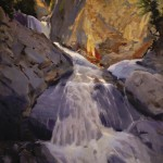 Peter Campbell, Spring Torrent, oil, 20 x 18.