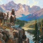 Robert Moore, On the Way, oil, 48 x 60.