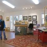 Elizabeth Tolley in her studio in Cayucos, CA.