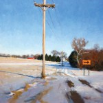 Timothy Horn, Ohio Winter, oil, 24 x 24.