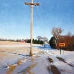 Timothy Horn, Ohio Winter, oil, 24 x 24.