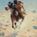 William Robinson Leigh, Indian Rider, oil, 20 x 16.