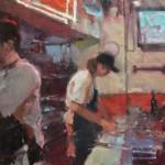 Randall Sexton, Zoolu Master Mike, oil, 16 x 20.