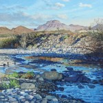 David Caton, Croton Peak, Morning, oil, 36 x 48.