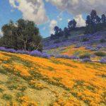 Dennis Doheny, Along Figueroa Mountain Road, oil, 24 x 30.