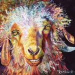 Sharon Markwardt, Goat Cheese!, oil, 12 x 12.