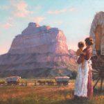 Todd A. Williams, Mitchell Pass, Oregon Trail, Scotts Bluff County, oil, 20 x 30.