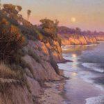 Dennis Doheny, Moonrise Over Dos Pueblos, oil, 24 x 30.