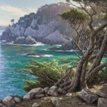 Dennis Doheny, Morning Light—Cypress Cove, oil, 30 x 36.
