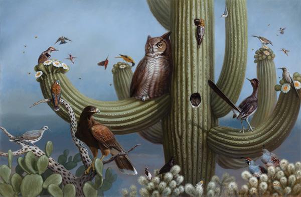 Jennifer O'Cualain, Sonoran Skyrise, oil, 47 x 72.