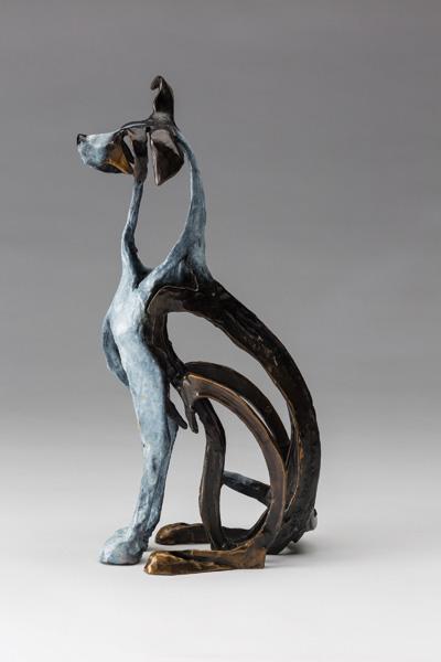Sandy Graves, Sport, bronze, 12 x 4 x 6.