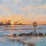 Todd A. Williams, Sunset Gathering, Holt County, oil, 12 x 16.